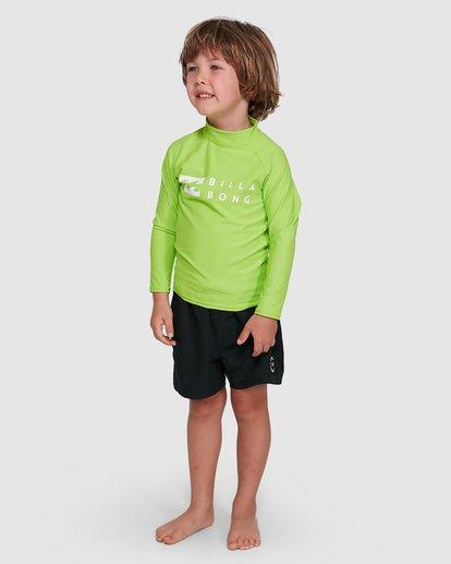 0 Groms Union Regular Fit Long Sleeve Rash Vest Green 7703001 Billabong