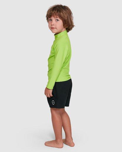 1 Groms Union Regular Fit Long Sleeve Rash Vest Green 7703001 Billabong