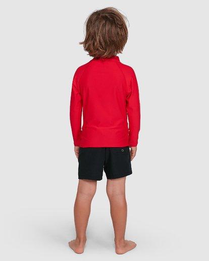 2 Groms Union Regular Fit Long Sleeve Rash Vest Red 7703001 Billabong