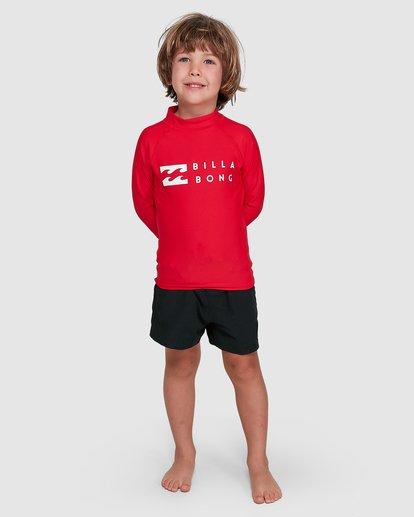 0 Groms Union Regular Fit Long Sleeve Rash Vest Red 7703001 Billabong