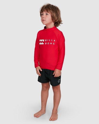 1 Groms Union Regular Fit Long Sleeve Rash Vest Red 7703001 Billabong