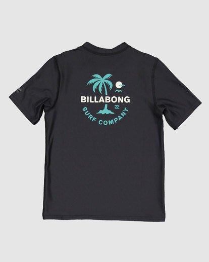 4 Groms Vacation Loose Fit Short Sleeve Rashie Black 7703002 Billabong