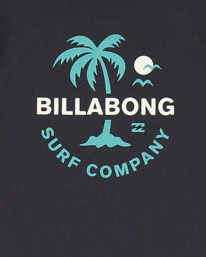 5 Groms Vacation Loose Fit Short Sleeve Rashie Black 7703002 Billabong
