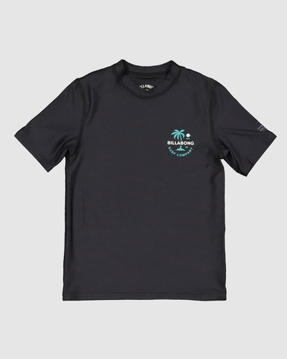 3 Groms Vacation Loose Fit Short Sleeve Rashie Black 7703002 Billabong