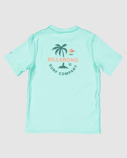 4 Groms Vacation Loose Fit Short Sleeve Rashie Blue 7703002 Billabong