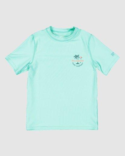 3 Groms Vacation Loose Fit Short Sleeve Rashie Blue 7703002 Billabong