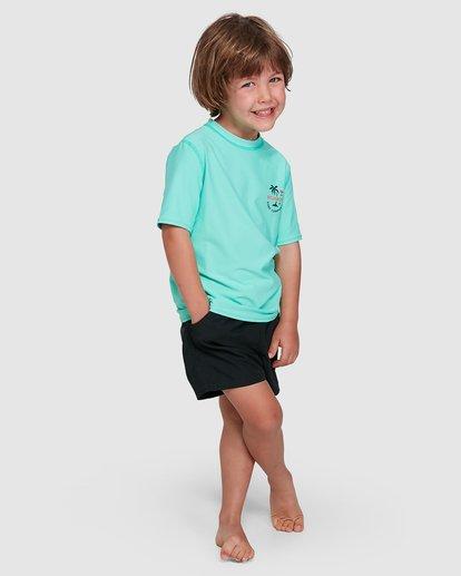 6 Groms Vacation Loose Fit Short Sleeve Rashie Blue 7703002 Billabong