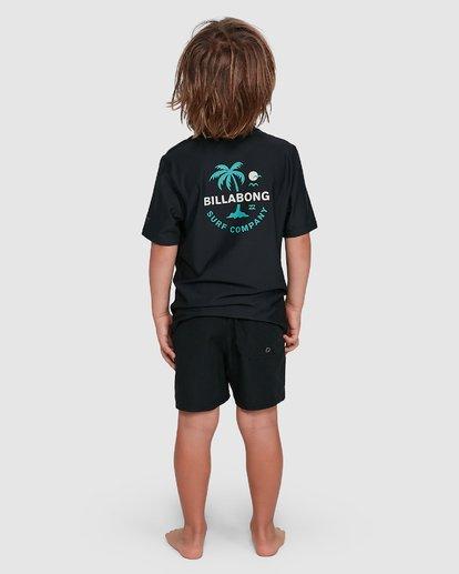 2 Groms Vacation Loose Fit Short Sleeve Rashie Black 7703002 Billabong