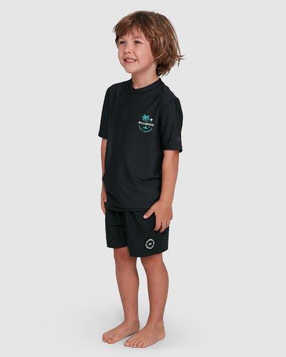 1 Groms Vacation Loose Fit Short Sleeve Rashie Black 7703002 Billabong