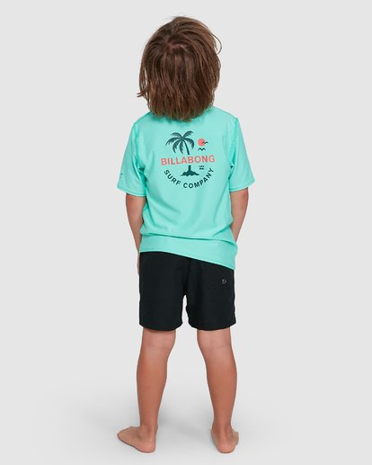 2 Groms Vacation Loose Fit Short Sleeve Rashie Blue 7703002 Billabong