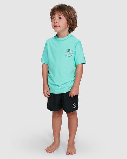 1 Groms Vacation Loose Fit Short Sleeve Rashie Blue 7703002 Billabong