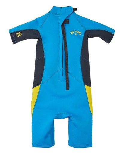7 Toddler 2/2 Absolute Flatlock Back Zip Short Sleeve Springsuit Blue 7703400 Billabong