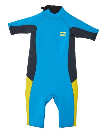 6 Toddler 2/2 Absolute Flatlock Back Zip Short Sleeve Springsuit Blue 7703400 Billabong