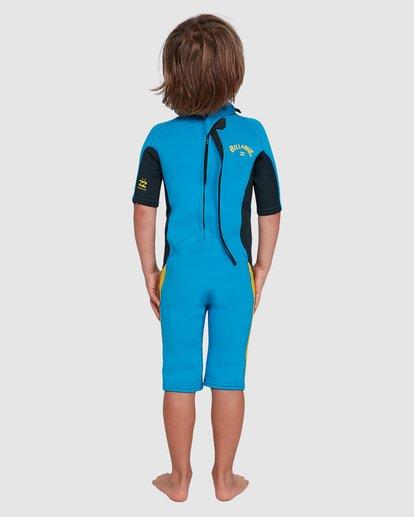 1 Toddler 2/2 Absolute Flatlock Back Zip Short Sleeve Springsuit Blue 7703400 Billabong