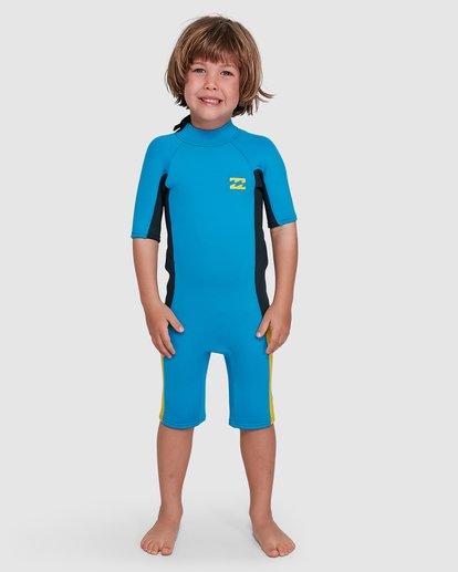 5 Toddler 2/2 Absolute Flatlock Back Zip Short Sleeve Springsuit Blue 7703400 Billabong