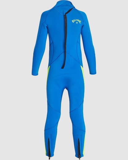 3 Toddler 3/2 Absolute Flatlock Back Zip Fullsuit Blue 7707700 Billabong
