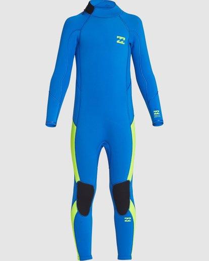4 Toddler 3/2 Absolute Flatlock Back Zip Fullsuit Blue 7707700 Billabong