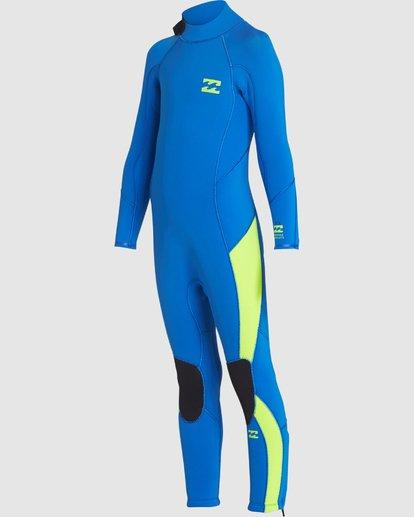 2 Toddler 3/2 Absolute Flatlock Back Zip Fullsuit Blue 7707700 Billabong
