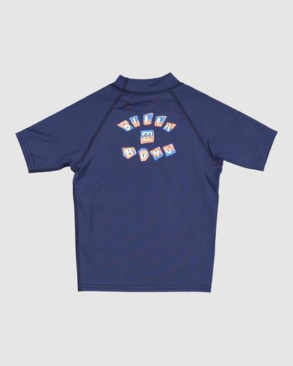 1 Boys 0-7 Sharky Regular Fit Rash Vest Blue 7713002 Billabong