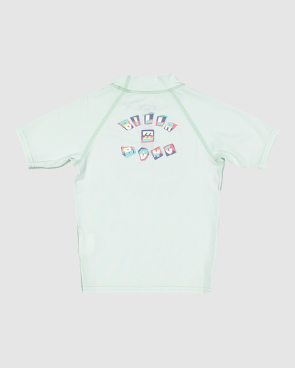1 Boys 0-7 Sharky Regular Fit Rash Vest Green 7713002 Billabong