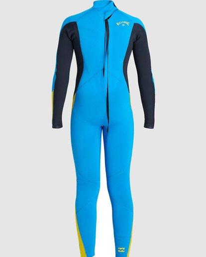 1 Boys 3/2 Absolute Back Zip Long Sleeve Gbs Fullsuit Blue 7717810 Billabong