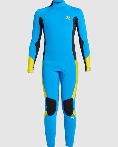 2 Boys 3/2 Absolute Back Zip Long Sleeve Gbs Fullsuit Blue 7717810 Billabong
