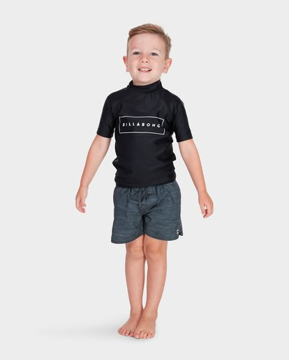 4 BOYS ALL DAY UNITED SHORT SLEEVE RASH VEST Black 7781001 Billabong