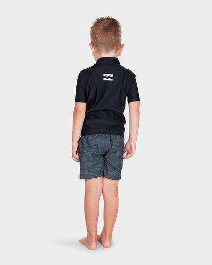 2 BOYS ALL DAY UNITED SHORT SLEEVE RASH VEST Black 7781001 Billabong