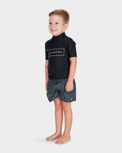 1 BOYS ALL DAY UNITED SHORT SLEEVE RASH VEST Black 7781001 Billabong