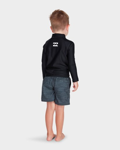 2 Boys All Day United Long Sleeve Rash Vest Black 7781007 Billabong