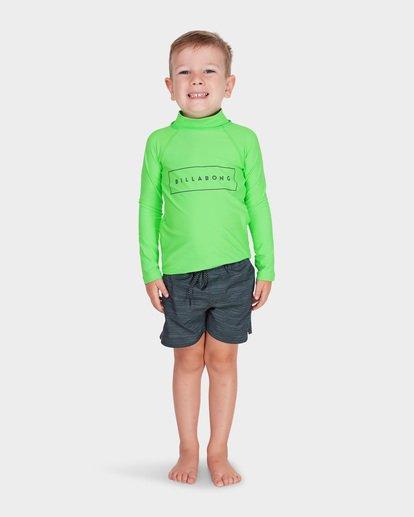 0 BOYS ALL DAY UNITED LONG SLEEVE RASH VEST Green 7781007 Billabong