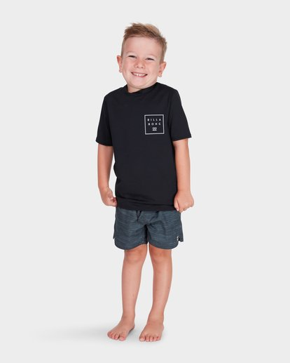 4 BOYS ALL DAY MESH SHORT SLEEVE RASH VEST Black 7781009 Billabong