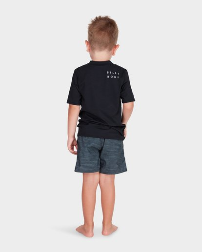 2 BOYS ALL DAY MESH SHORT SLEEVE RASH VEST Black 7781009 Billabong