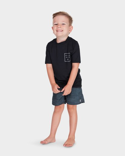 0 BOYS ALL DAY MESH SHORT SLEEVE RASH VEST Black 7781009 Billabong