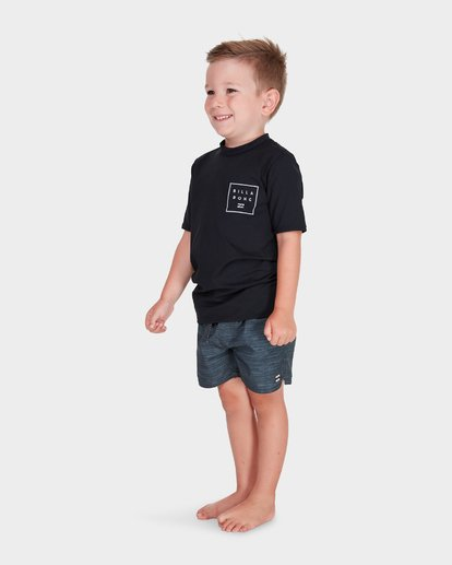 1 BOYS ALL DAY MESH SHORT SLEEVE RASH VEST Black 7781009 Billabong