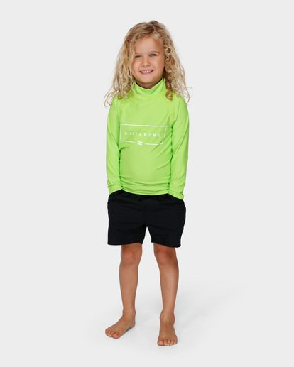 3 GROMS UNION RF LS Green 7791502 Billabong