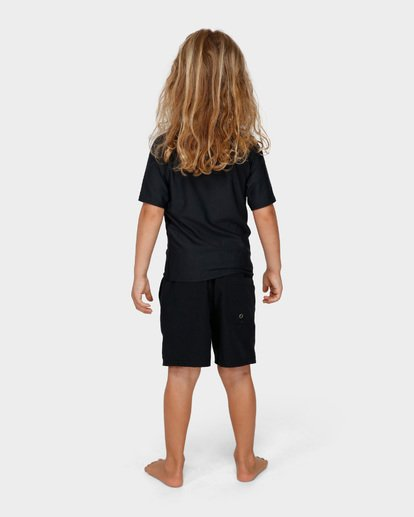 2 Groms Union Relaxed Fit Short Sleeve Rash Vest Black 7791503 Billabong