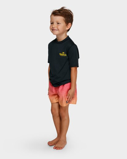 1 BEACH SCRIPT SHORT SLEEVE RASH VEST Black 7791506 Billabong