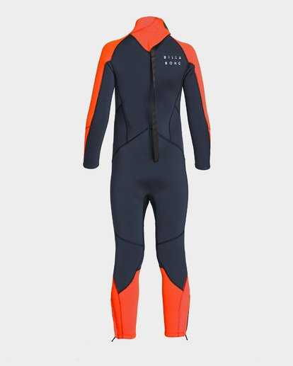 1 Boys Absolute Back Zip Full Suit Red 7793700 Billabong