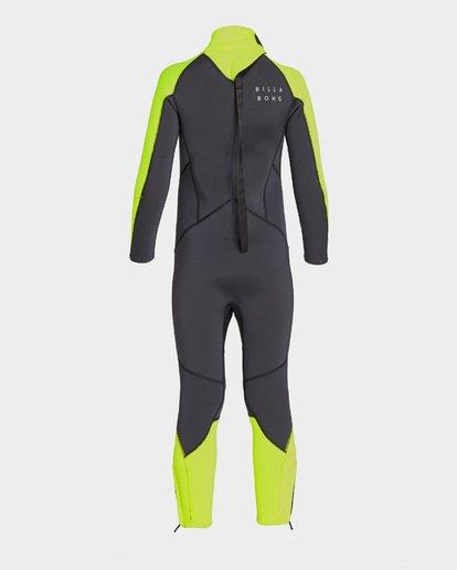 1 Boys Absolute Back Zip Full Suit Yellow 7793700 Billabong
