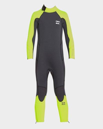 2 Boys Absolute Back Zip Full Suit Yellow 7793700 Billabong
