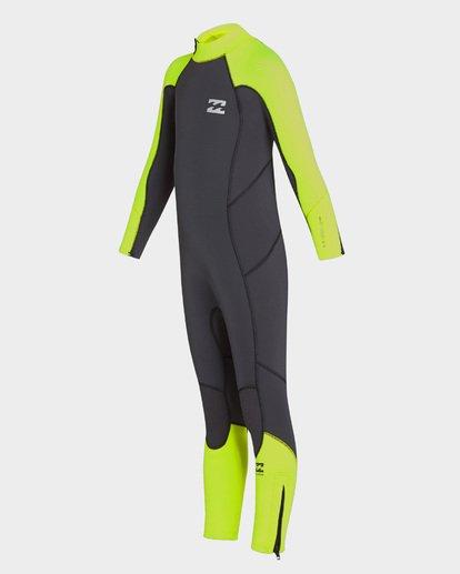 0 Boys Absolute Back Zip Full Suit Yellow 7793700 Billabong