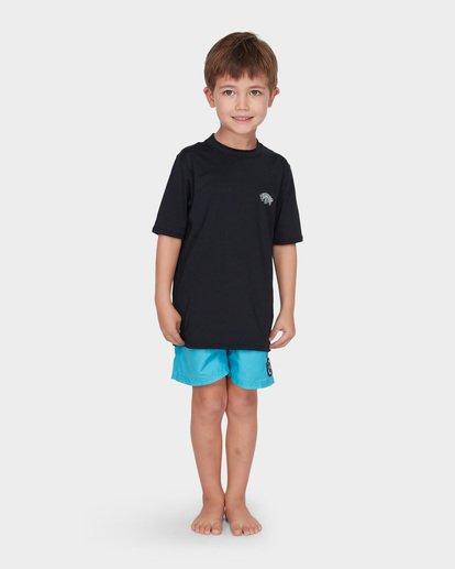 0 BOYS SPACE STORM SHORT SLEEVE SURF SHIRT Black 7795002 Billabong