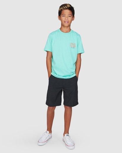 9 Boys Jaws Short Sleeve Tee Blue 8503000 Billabong