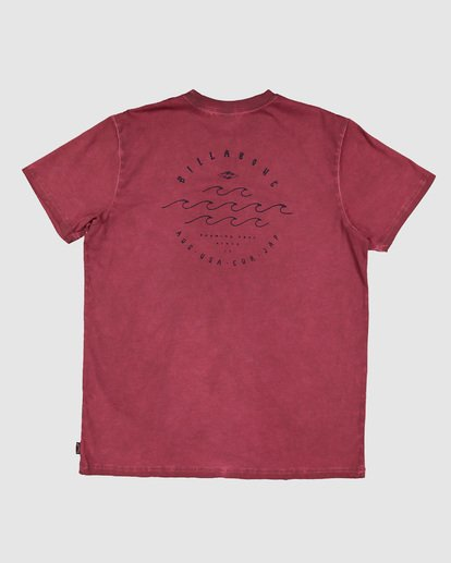 7 Boys Big Wave Dave Short Sleeve Tee Red 8503012 Billabong