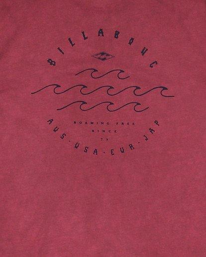 8 Boys Big Wave Dave Short Sleeve Tee Red 8503012 Billabong