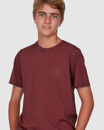 3 Boys Big Wave Dave Short Sleeve Tee Red 8503012 Billabong