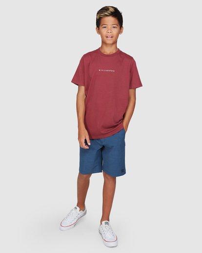 9 Boys Smitdog Short Sleeve Tee Red 8503020 Billabong