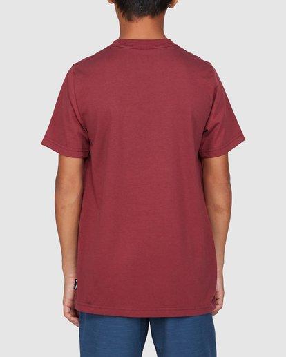 3 Boys Smitdog Short Sleeve Tee Red 8503020 Billabong