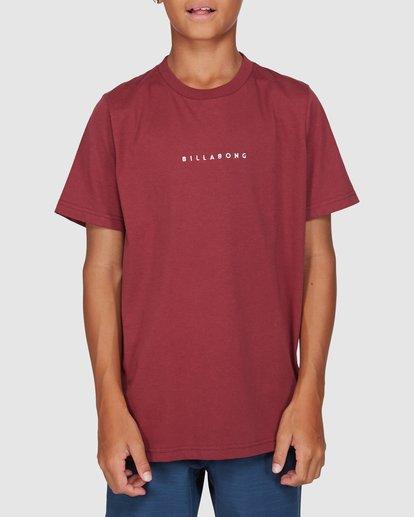 1 Boys Smitdog Short Sleeve Tee Red 8503020 Billabong